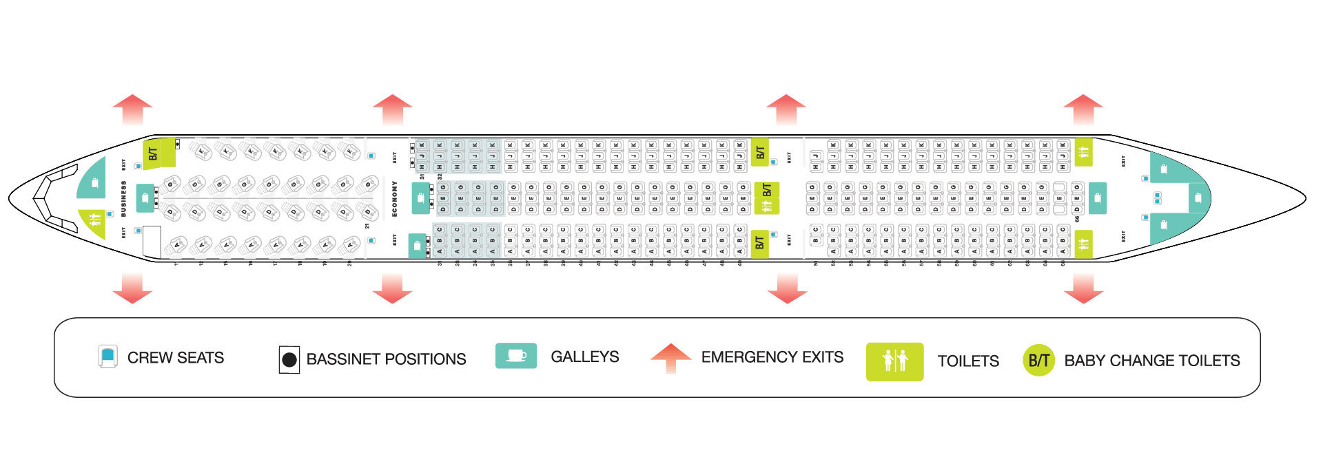 A350 Seating Plan