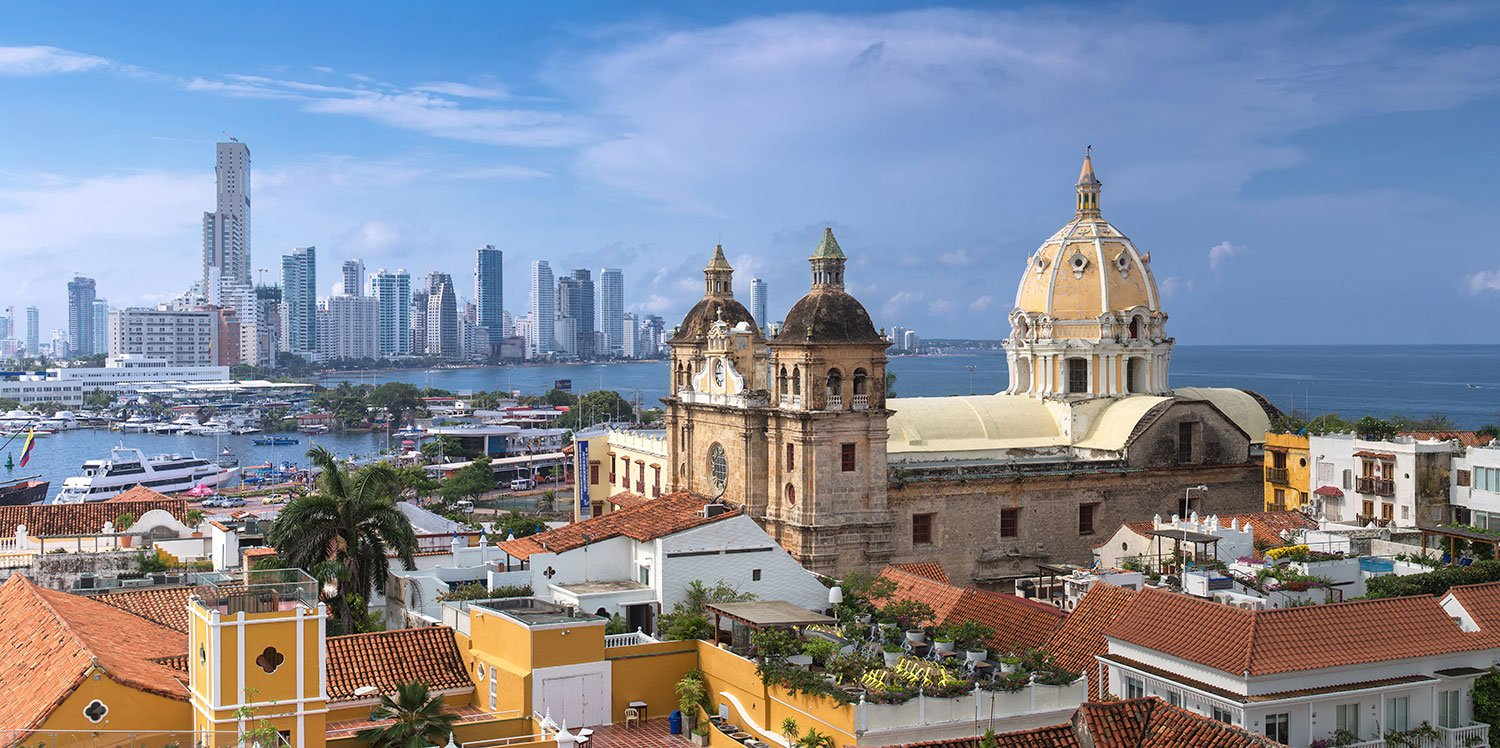 View of the city and sea in Colombia