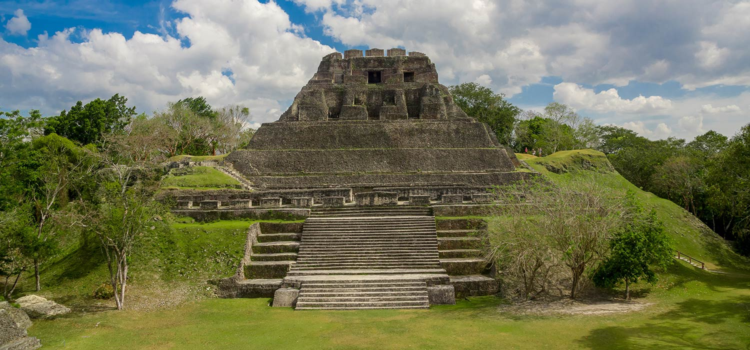 Landscape of Mayan ruins in Belize City
