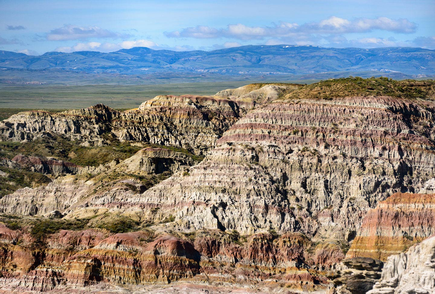 Large rock formations in Casper