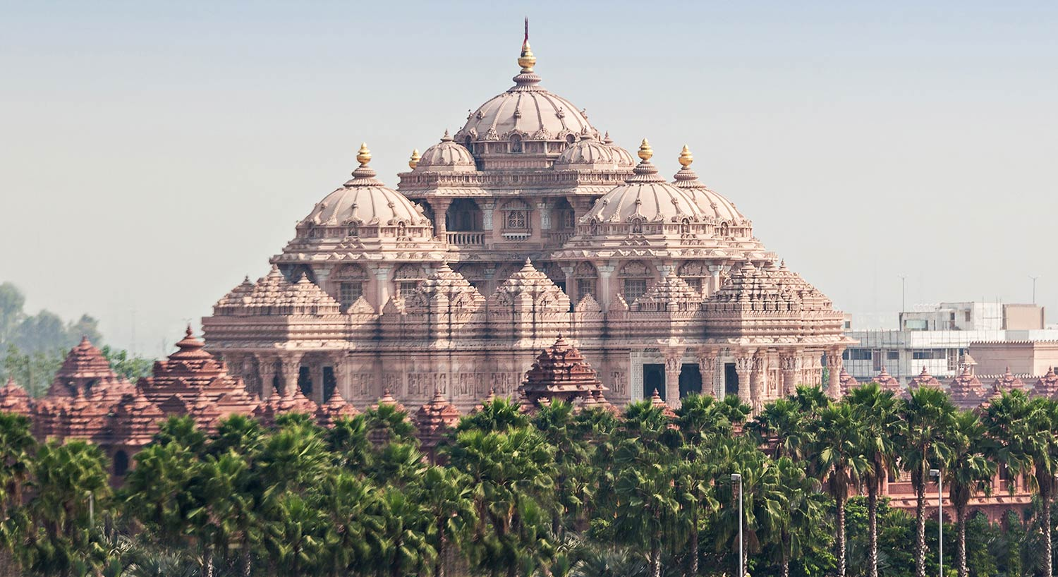Exterior of a Hindu temple in Delhi