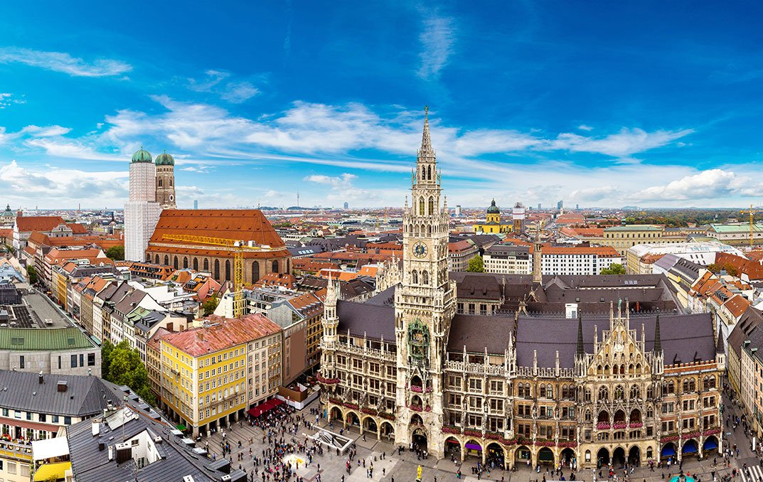 Downtown Munich on a sunny day