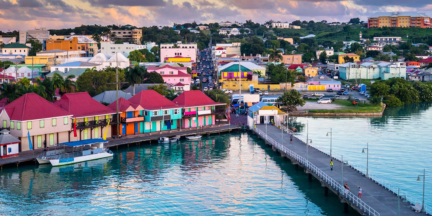 Colorful buildings line the waterfront in St. John's